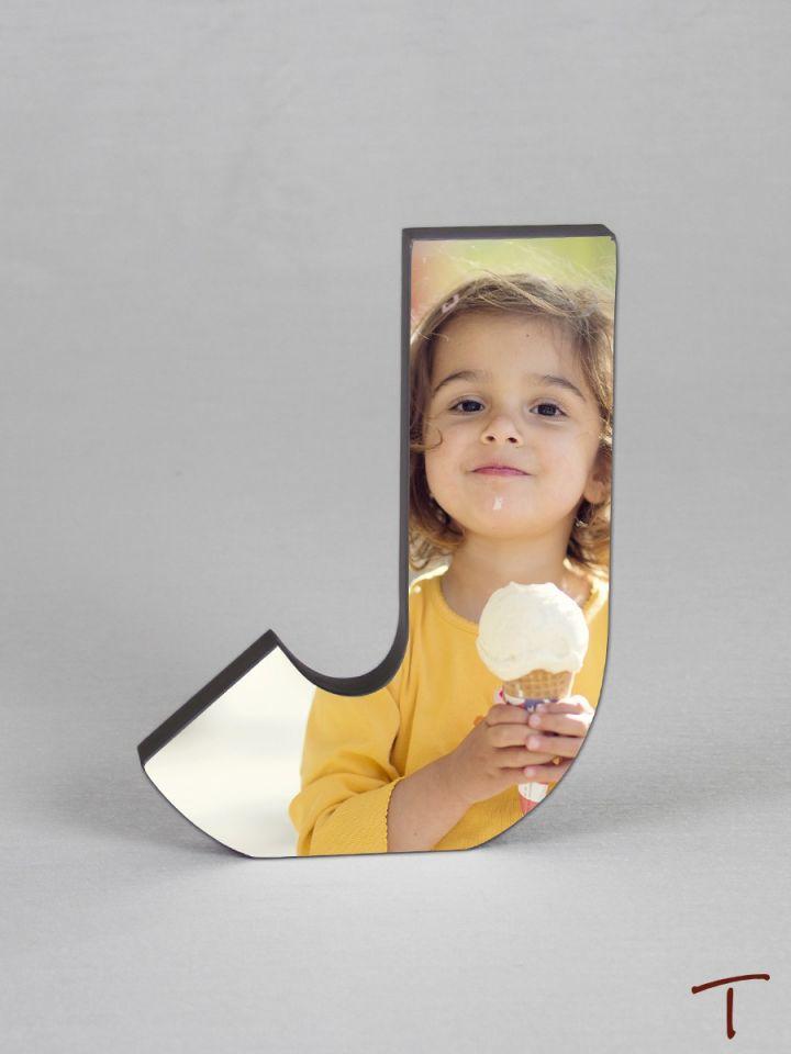 Photo Collage Letter Frame - J