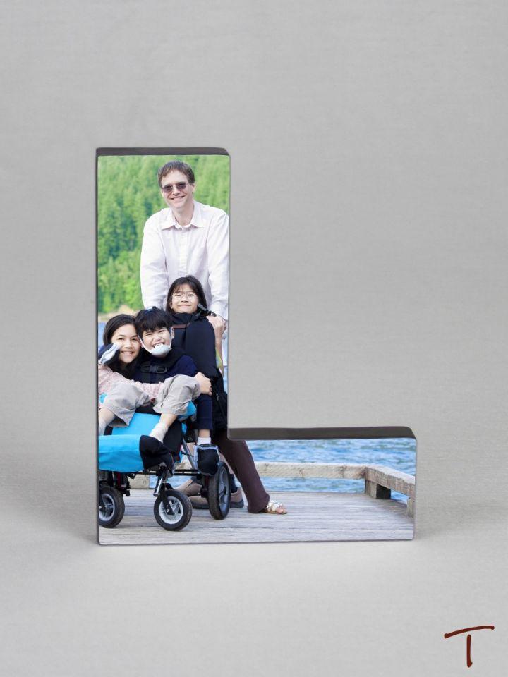 Photo Collage Letter Frame - L