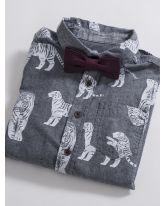 Linen Look Pre-tied Bow Tie