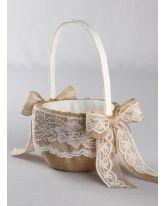 Country Romance Flower Girl Basket
