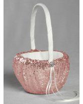 Elsa Shiny Sequin Flower Girl Basket