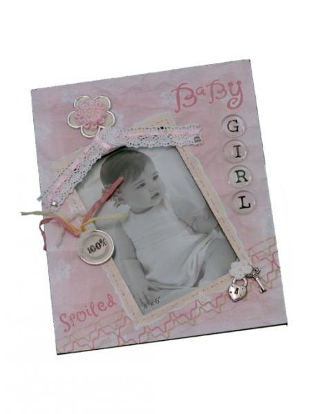 Baby Girl 3-D Frame