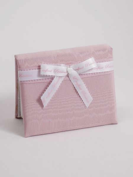 Baby 4x6 Pink Moire Album w/Bow
