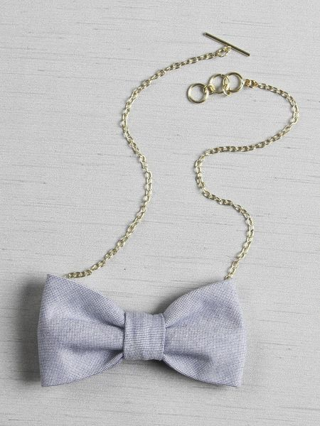 Oxford Bow Tie Necklace