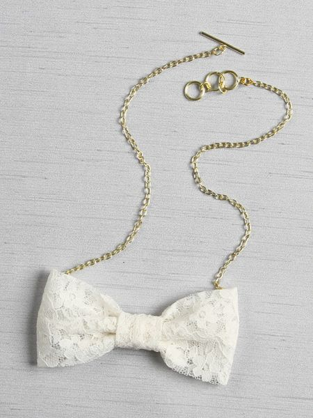 Lace Bow Tie Necklace