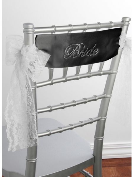 Bride Satin Chair Sash