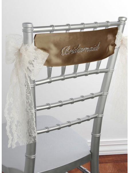 Bridesmaid Satin Chair Sash