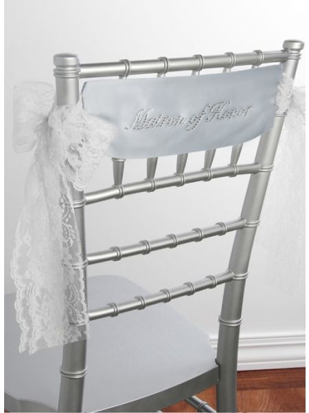 Matron of Honor Satin Chair Sash