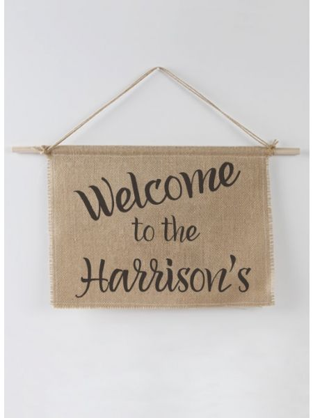 Welcome Burlap Sign