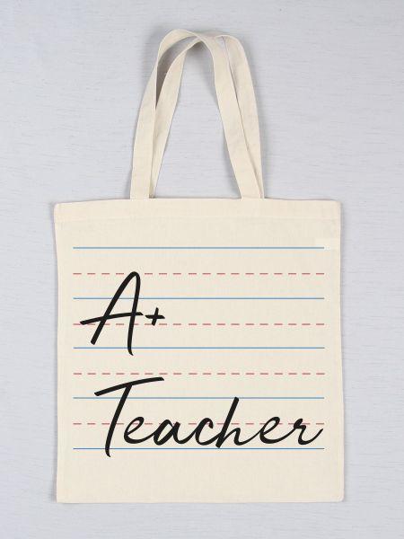 A+ Teacher Tote Bag
