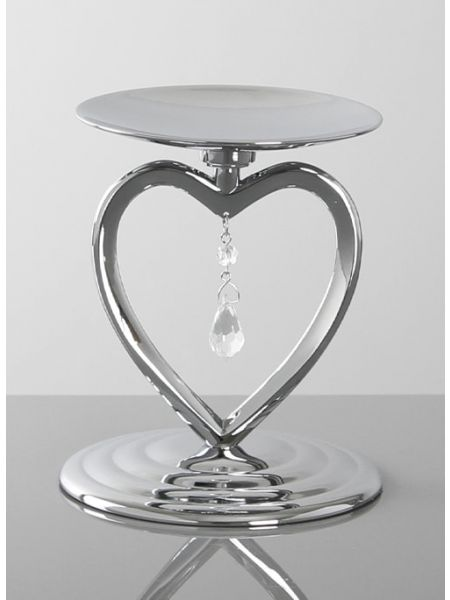 Crystal Heart Pillar Holder