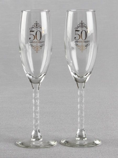 50th Anniversary Toasting Flutes