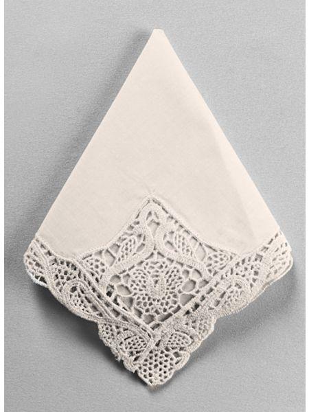 Venise Handkerchief, Ivory