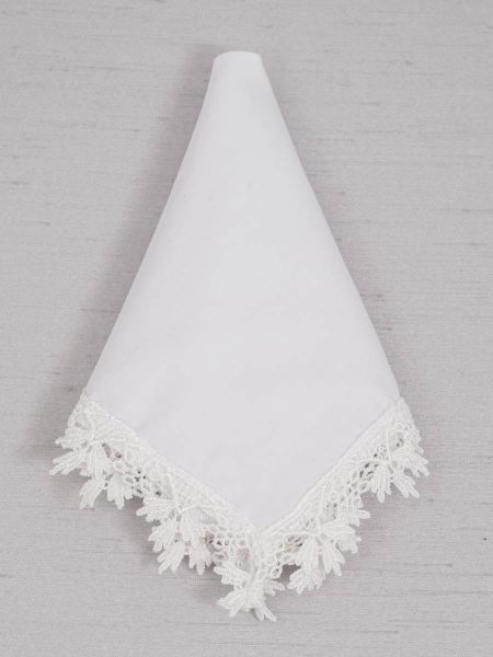 Edwardian Lace White Handkerchief