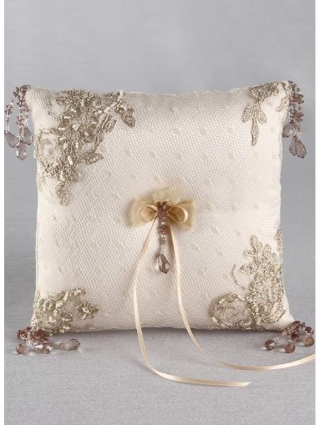 Bella Donna Ring Pillow-Champange