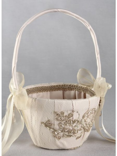 Bella Donna Flower Girl Basket-Champagne