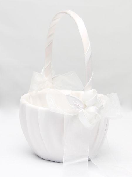 Amour Flower Girl Basket_White