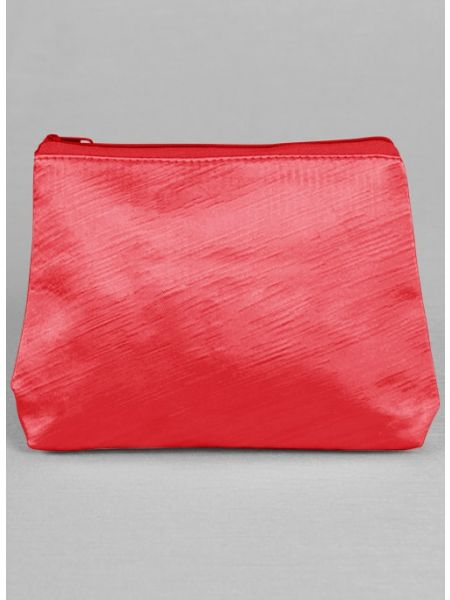Novia Embroidered Cosmetic Bag-Red