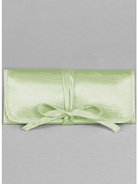 Novia Embroidered Jewelry Roll-Green