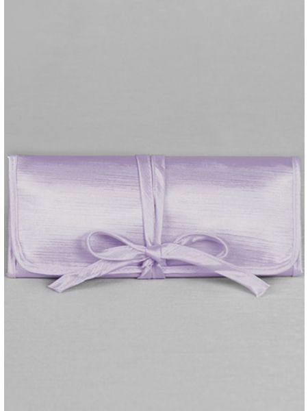Novia Embroidered Jewelry Roll-Lavender
