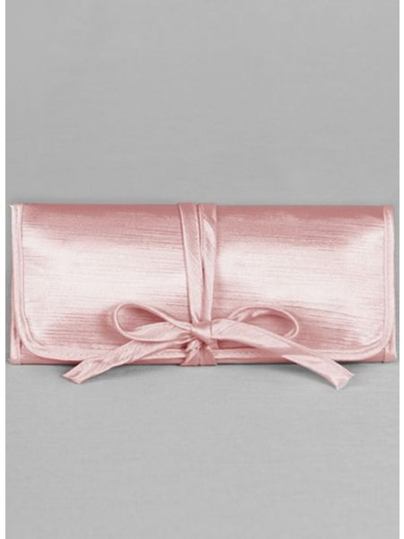 Novia Embroidered Jewelry Roll-Pink
