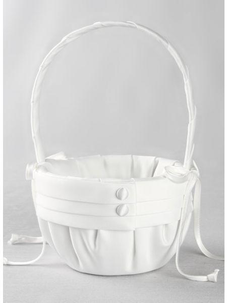 Audrey Flower Girl Basket-White