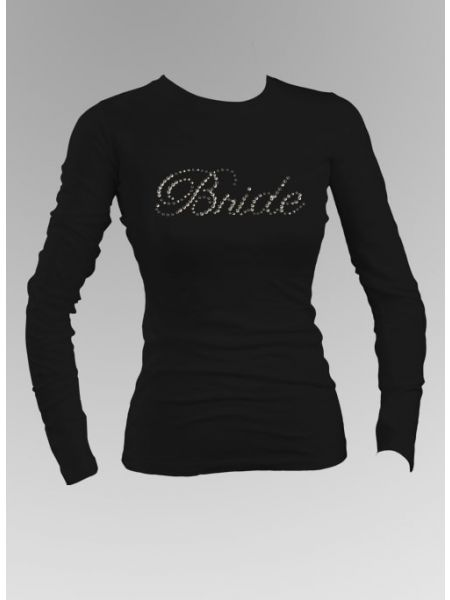 Bride Rhinestone Long Sleeve Top