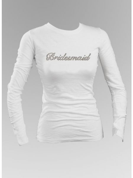 Bridesmaid Rhinestone Long Sleeve Top
