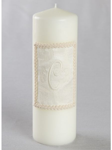 Brocade Monogram Unity Candle