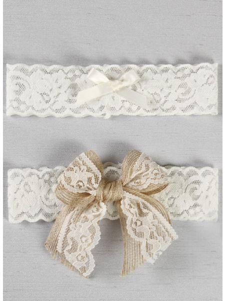 Country Romance Bridal Garter Set