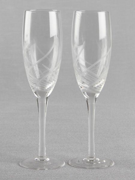 Cut Glass Toasting Flutes