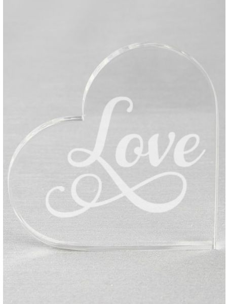 LOVE Acrylic Cake Top