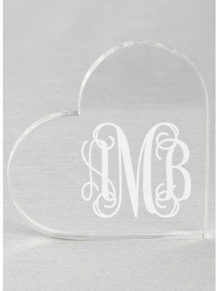 Monogram Acrylic Heart