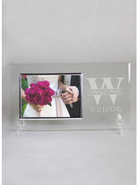 Bold Initial Glass Frame