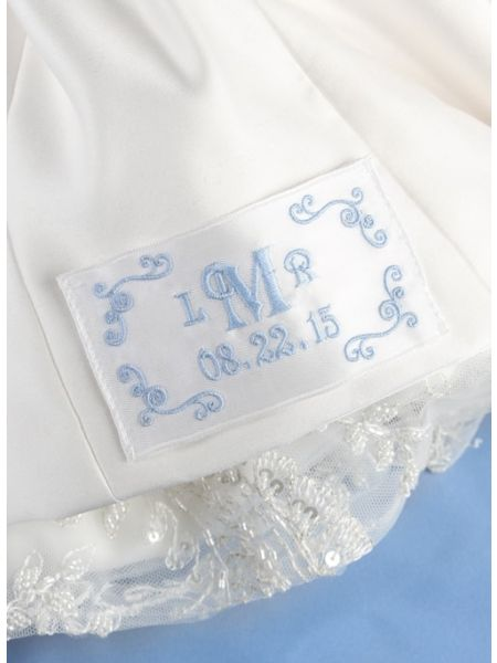 Flourish Border Monogram Dress Label