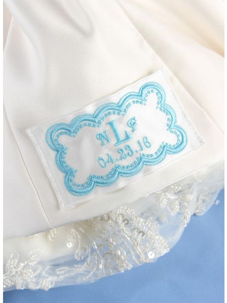 First Names and Single Initial Dress Label