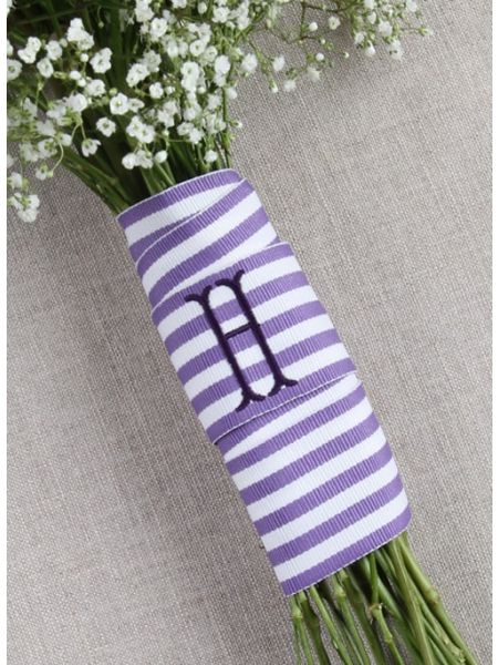 Grosgrain Stripe Bouquet Wrap