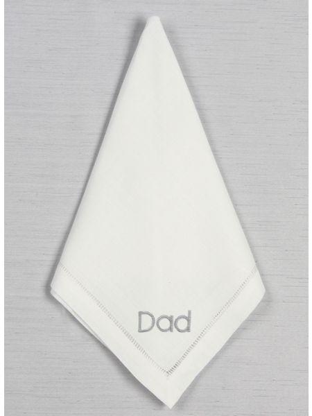 Dad Hemstich Handkerchief