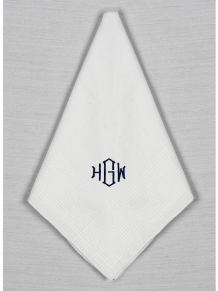 Men's Monogram Handkerchief