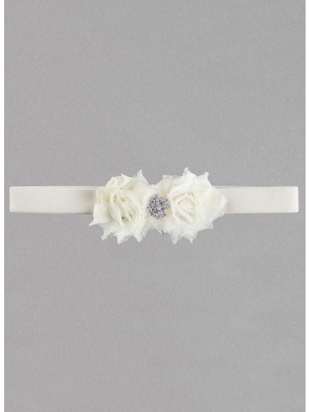 Gisele Velvet Elastic Garter - Silver