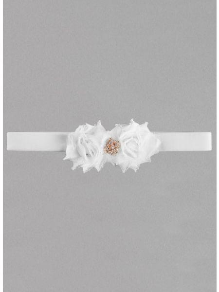 Gisele Velvet Elastic Garter - Rose Gold