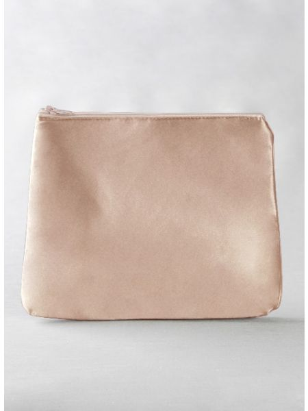 Novia Embroidered Cosmetic Bag-Blush