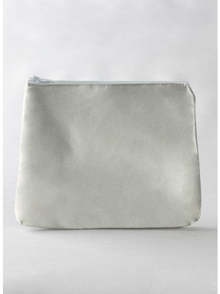 Novia Embroidered Cosmetic Bag-Silver