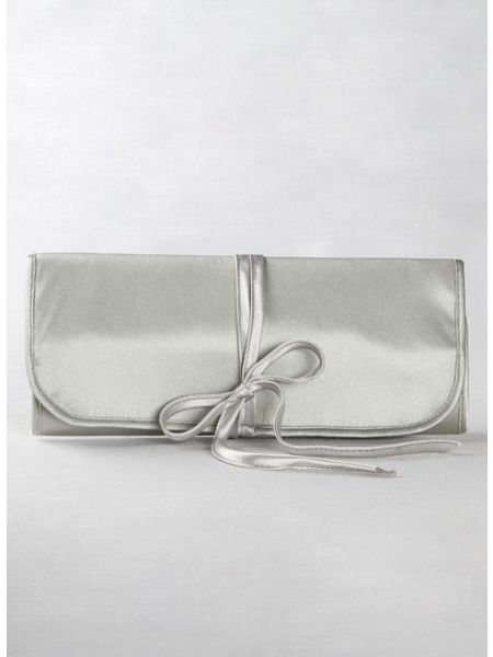 Mi Confirmacion Embroidered Jewelry Roll-Silver