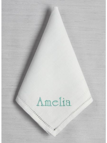 Custom Embroidered Hemstich Handkerchief