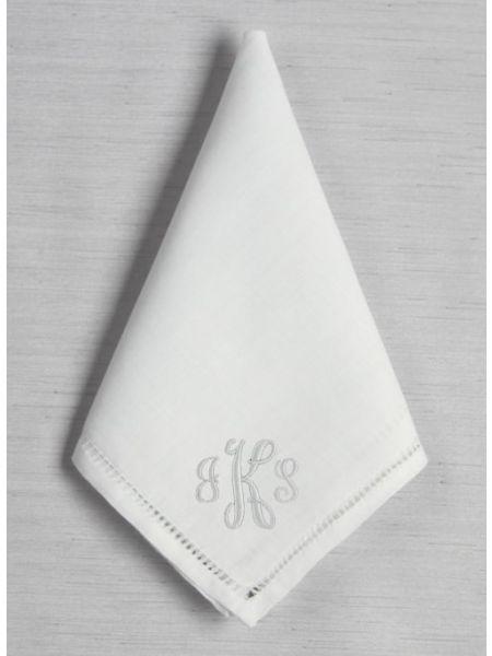 Monogram Hemstich Handkerchief