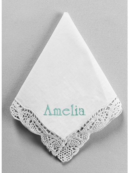 Custom Embroidered Venise Handkerchief