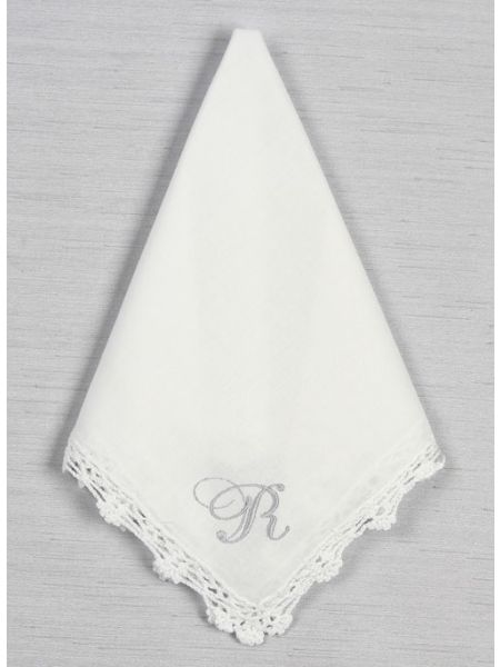 Ladies' Single Initial Handkerchief