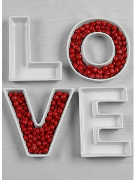 LOVE Letter Dish Set