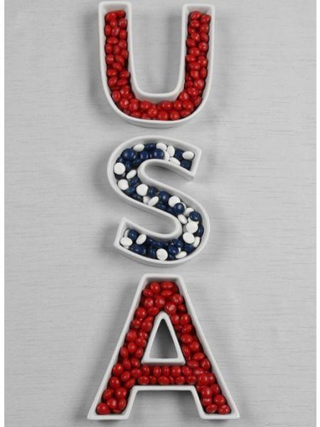 USA Letter Dish Set